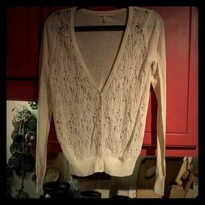 Victoria's Secret Ivory Distressed Cardigan